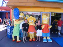 Me and hub with Homer, Marg, Lisa and Bart., JULIE B - September 2010