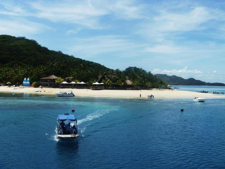 View of the island as you arrive - Denarau Island