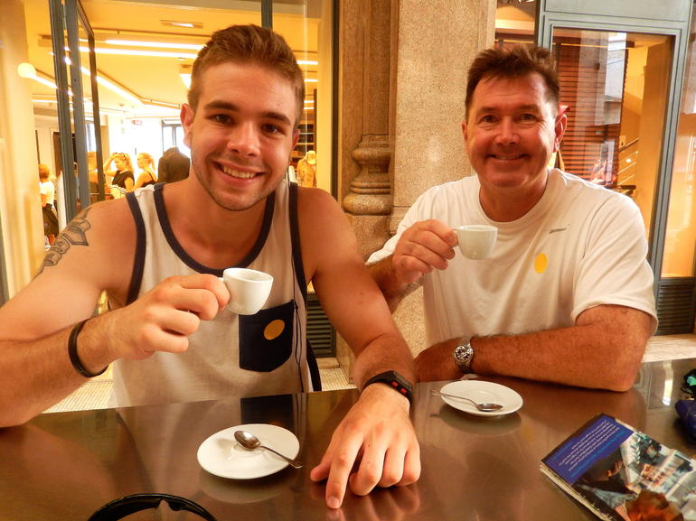 A quick break for some espresso - Rome