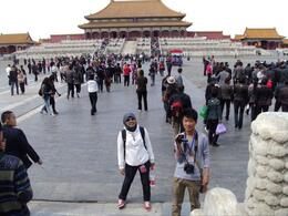 in front of the forbidden city in Beijing , sawilz - May 2011