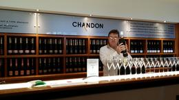 At chandon, about to pour us a full glass of champagne , josdp - July 2014