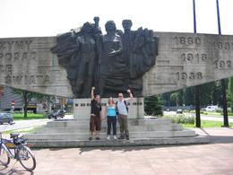 Communist statue on Krakow bike tour - Up the revolution!, Paul M - July 2008