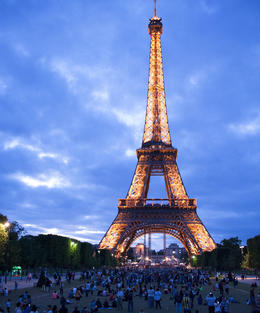 Photo of Paris Paris Shuttle Departure Transfer: Charles de Gaulle Airport (CDG) Eiffel Tower at night