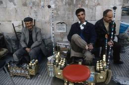 Seeing some local musicians during the city tour of Istanbul. - August 2008