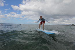 Photo of Oahu Oahu Surf Lessons: Class and Equipment at Ala Moana Beach with Round-Trip Transport Nicely balanced