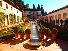 Photo of Granada Skip the Line: Alhambra and Generalife Gardens Half-Day Tour Beautiful fountain at the Generalife Gardens