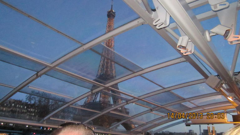 The Eiffel Tower from the River Cruise - Paris