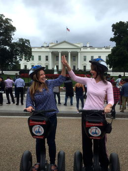 high five-ing our decision to do the Segway Tour! , Linda K - October 2015
