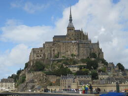 Photo of Paris Mont Saint Michel Day Trip Approaching the abbey from the bus picture
