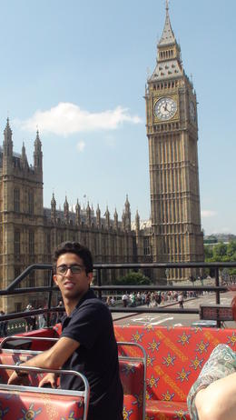 Omar and the Big Ben during the tour , Mohsen H - September 2013