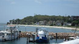 Photo of Sydney Port Stephens and Nelson Bay 4WD Adventure Tour including Dolphin Cruise Boats docked at Nelson Bay in Port Stephens 4