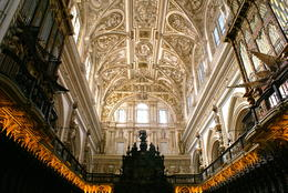 Photo of Seville Cordoba Day Trip from Seville Ceiling of Catholic Church in center of Mosque