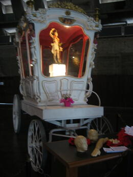 Chariot with San Sebastian - the patron saint of Rio de Janeiro. This is inside the church., Bandit - September 2011