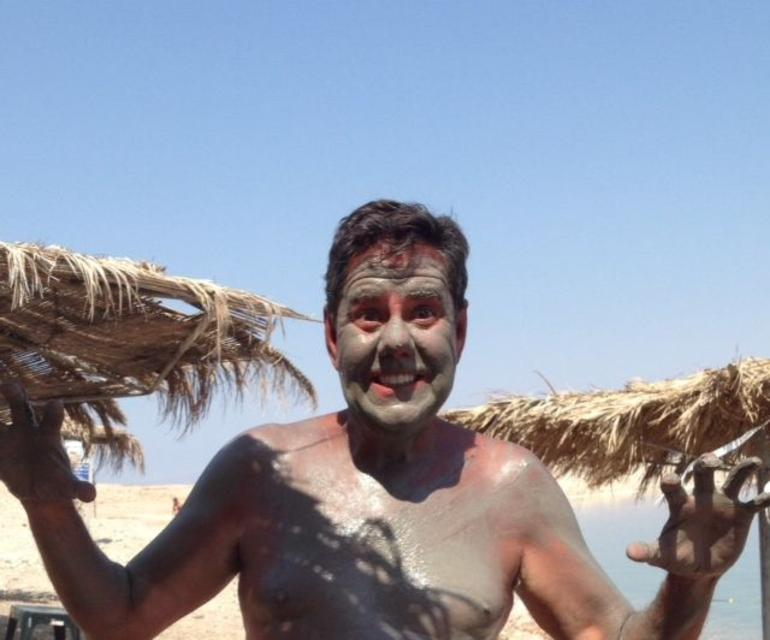Mineral Mud bath and dip in the Dead Sea