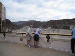 Taking in the view from the observation deck. - October 2009