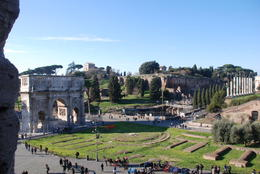 View of Forum and Palantine Hill from Colosseum. , Paul L - January 2012