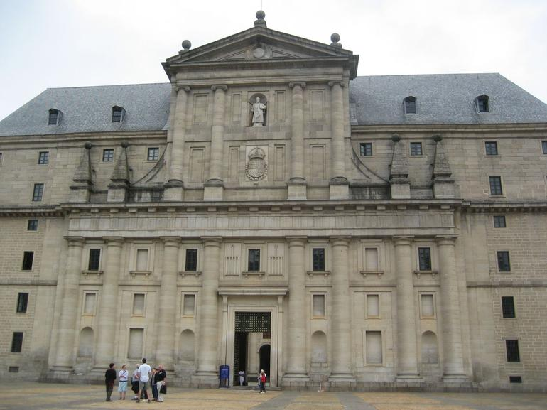 Front of the Escorial Monastery - Madrid