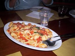 Can't remember the name of this pasta, but it was served with a tomato sauce. It was pretty good., Shalonda S - June 2010