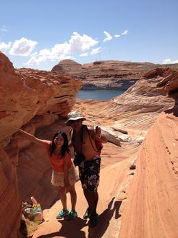 Our guide took us for a swim in lake Powell, World Traveler - October 2012