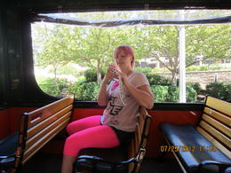 My niece Ashten is taking a picture of me taking a picture of her. It was a beautiful sunny day in D.C. and we loved the and quot;natural and quot; air conditioning on these trolleys. , Patricia O - August 2012