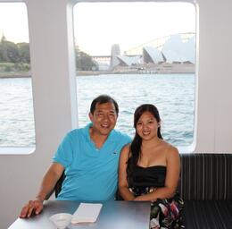 Photo of Sydney Sydney Harbour Dinner Cruise by Catamaran Taking time-out cruising with my lovely daughter Annabelle.