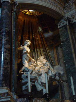 Bernini's famous sculpture in St. Maria della Vittoria. , Marlene - May 2011