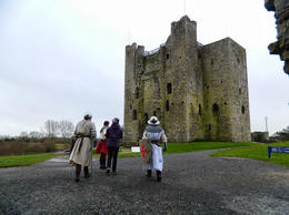Photo of Dublin Celtic Heritage Day Trip from Dublin: Boyne Valley, Hill of Tara and Loughcrew Celtic Tombs Walking towards Trim Castle