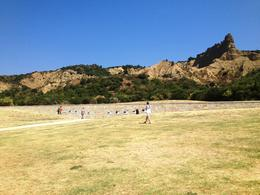 The ANZAC Day ceremonial site, where photo panels along the wall tell the story of the Gallipoli Campaign - September 2013