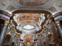 Photo of Vienna Danube Valley Day Trip from Vienna Abbey ceiling.