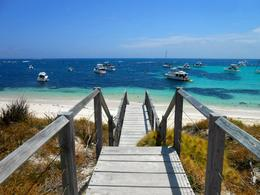 Photo of Perth Rottnest Island Bike and Snorkel Tour from Perth or Fremantle Beautiful blue waters