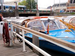 Photo of Amsterdam Amsterdam Canals Cruise with Dinner Cooked On Board Boat waiting for us to board at the docks
