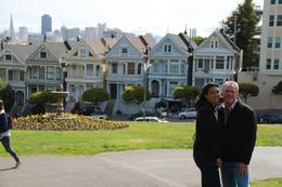My wife and I in front of the famous Painted Ladies. She wanted to see this and was happy when the guide said we would be stopping by this site. , Donald K - June 2013