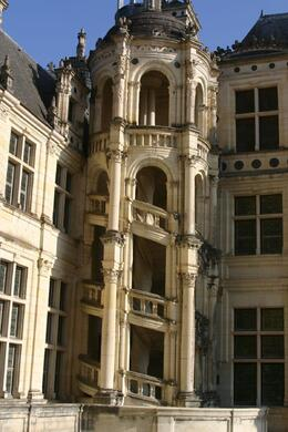 Photo of Paris Loire Valley Castles Day Trip: Chambord, Cheverny and Chenonceau Chambord Castle's outside staircase