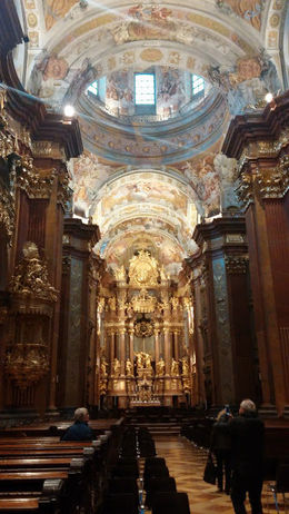 Inside the heavily gilded church at Abbey Melk. , Jennifer B - November 2015