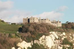 Dover Castle sitting on the White Cliffs , passport - December 2014