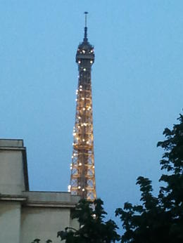 Eiffel at night , Mervyn B - July 2013