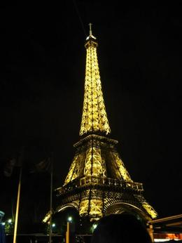 Eiffel Tower from the Seine River cruise. , Trina S - October 2012