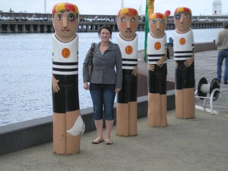 Geelong's famous wooden statues -