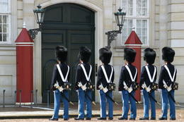 Guards in front of Amalienborg, Copenhagen - May 2011