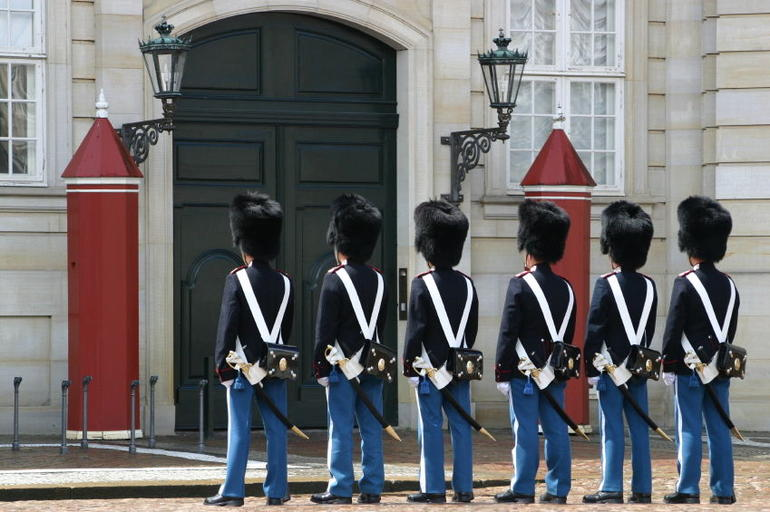 Guards in front of Amalienborg, Copenhagen - Copenhagen