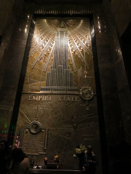 Iconic art piece in ESB entrance, Patricia P - July 2015