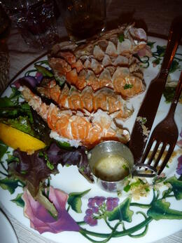 Photo of Reykjavik Northern Lights Tour from Reykjavik: Lobster Dinner, Lava Caves and Eyrarbakki Lobster in Eyrarbakki