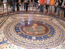 Large mosaic in the Vatican Museum , Christine L - May 2012
