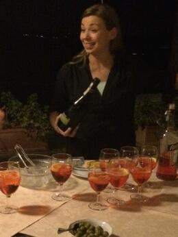 Photo of Florence Wine and Dine in the Tuscan Countryside Including a Night Tour of Florence Sarah making Spritz