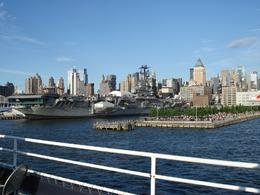 A view on New York from the deck of the boat - July 2009