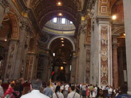 The last point of guided tour is St Peter's Basilica. Pictures are not easy to take inside there. , Kate A - June 2012