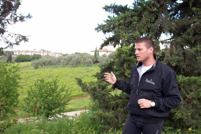 Teaching us about Chianti grape growing - Florence