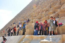 Gene and Khia at the footsteps of the pyramid..., Genesis A - May 2010