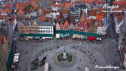 Photo of Paris Paris to Bruges Day Trip Town square, seen from the bell tower