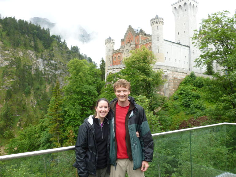 Katie and Eric in front of the Neuschwanstein Castle